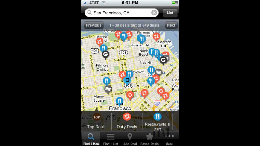 The Dealmap for Mac - review, screenshots