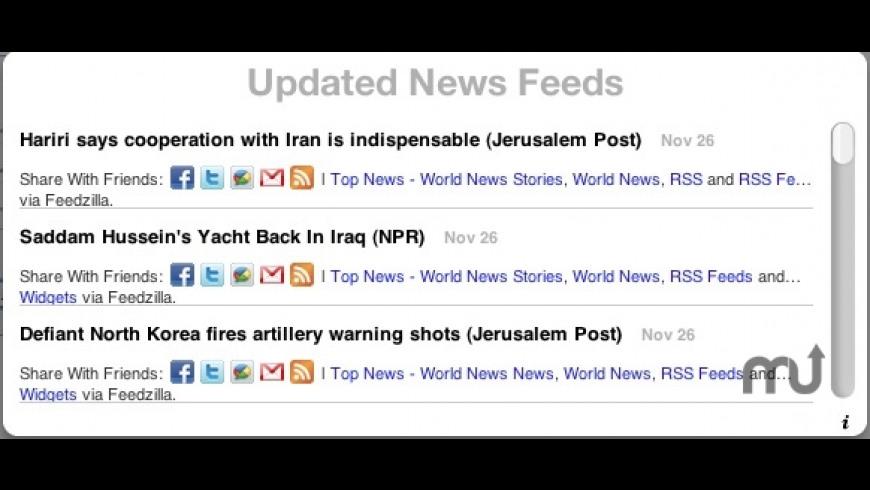 NewsUpdate for Mac - review, screenshots