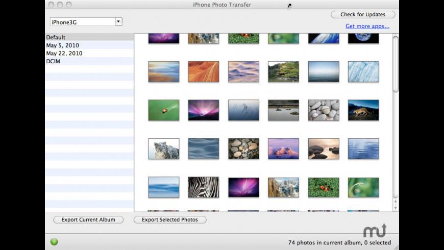iPhone Photo Transfer for Mac - review, screenshots