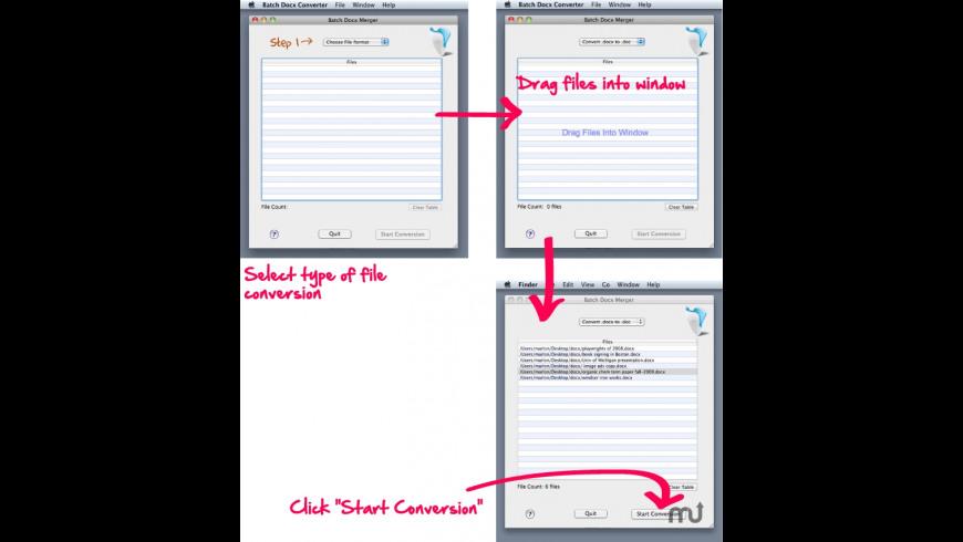 Batch Docx Converter for Mac - review, screenshots