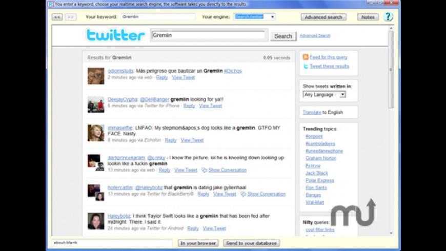 RealTimeSearcher for Mac - review, screenshots