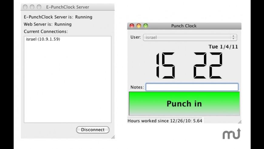 E-PunchClock Server for Mac - review, screenshots