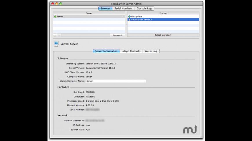 VirusBarrier Server for Mac - review, screenshots