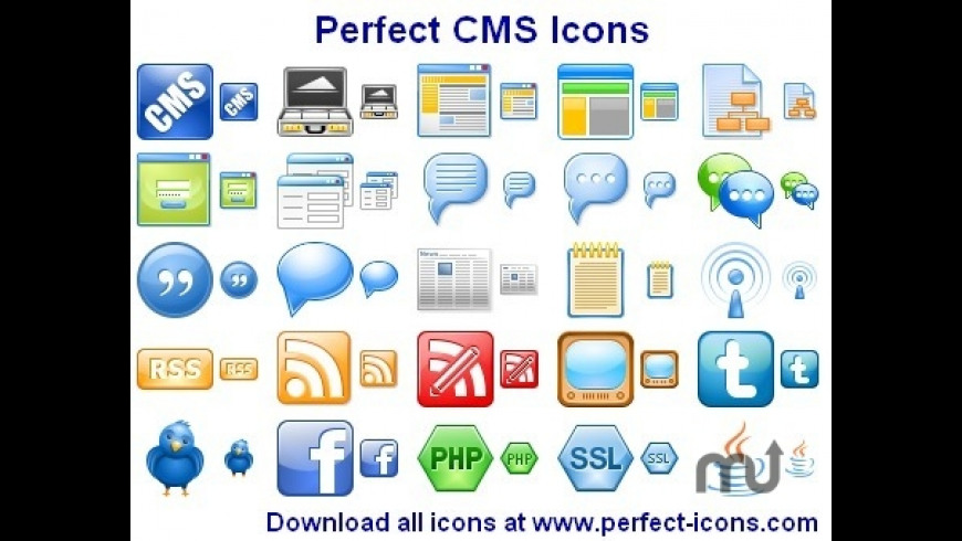 Perfect CMS Icons for Mac - review, screenshots