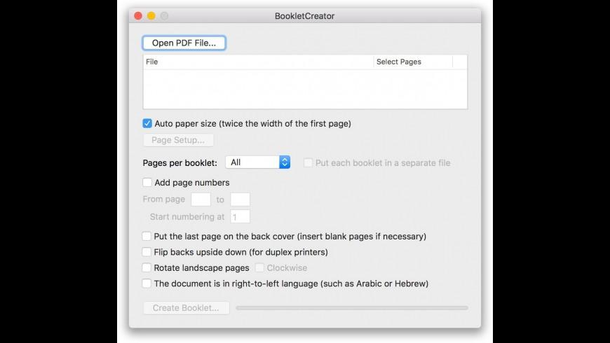 BookletCreator for Mac - review, screenshots