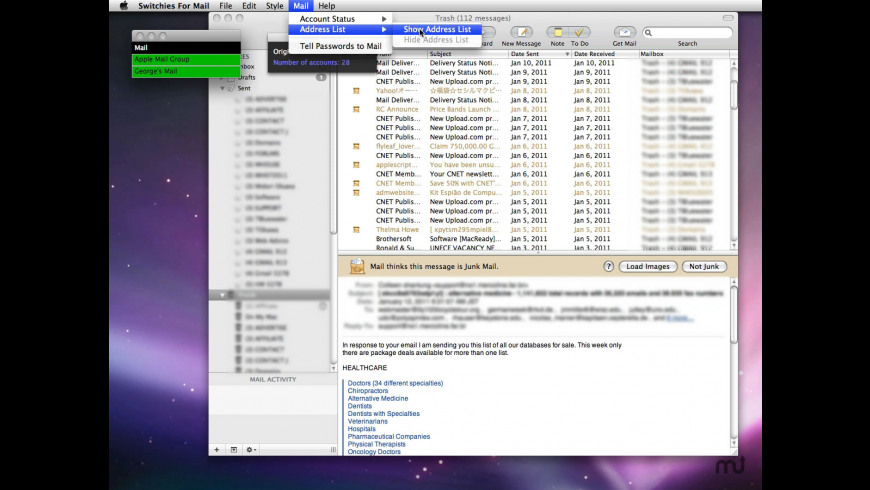 Switchies For Mail for Mac - review, screenshots