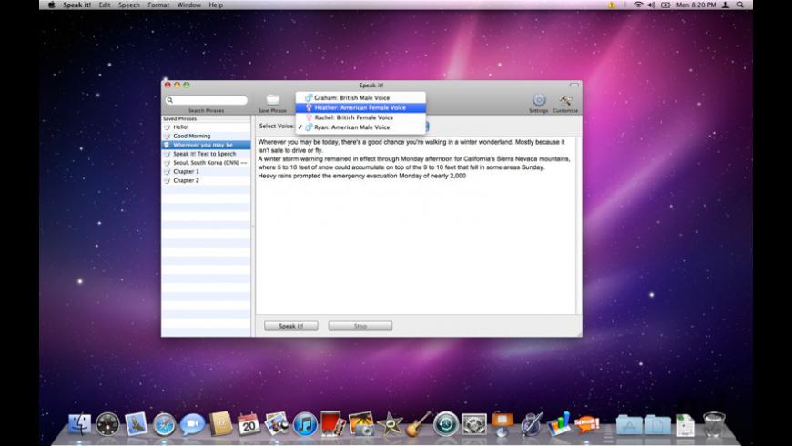 Speak it! for Mac - review, screenshots