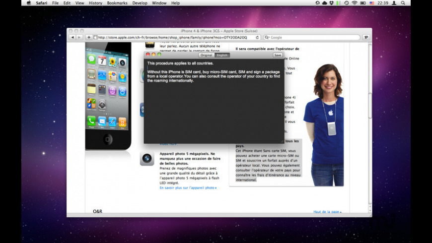 Translator Free for Mac - review, screenshots