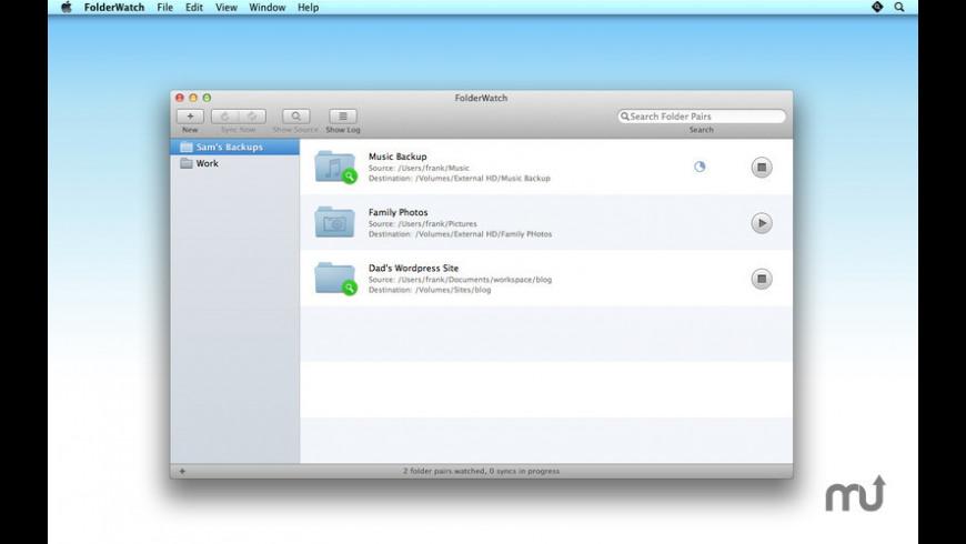 FolderWatch for Mac - review, screenshots
