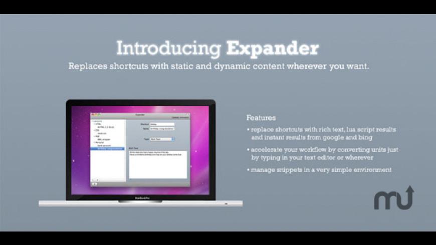 Expander for Mac - review, screenshots
