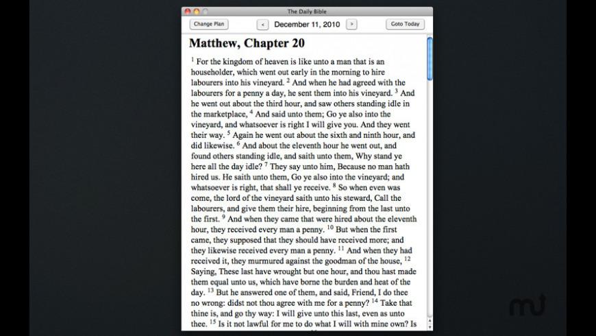Daily Bible for Mac - review, screenshots