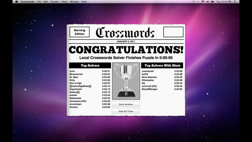 Crossword Light for Mac - review, screenshots