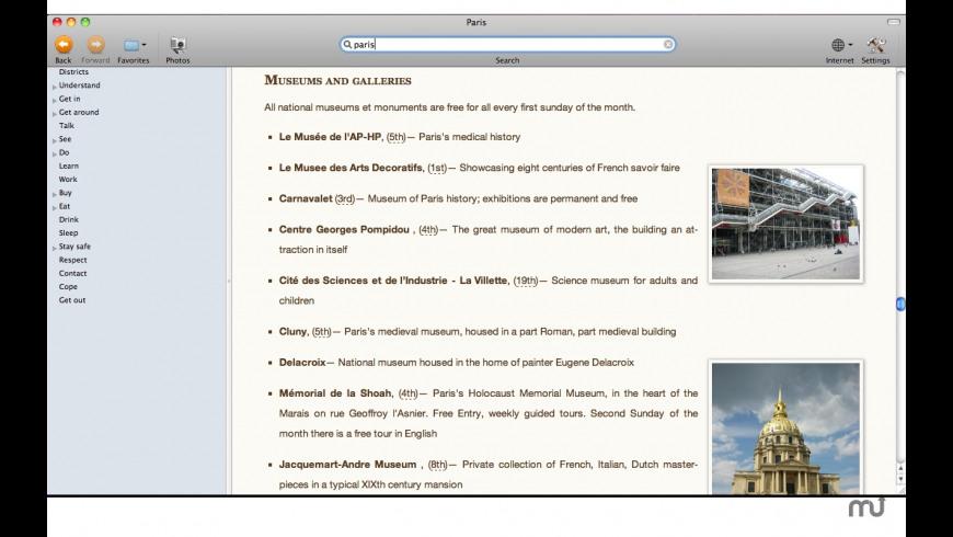 Wikitravel Offline for Mac - review, screenshots