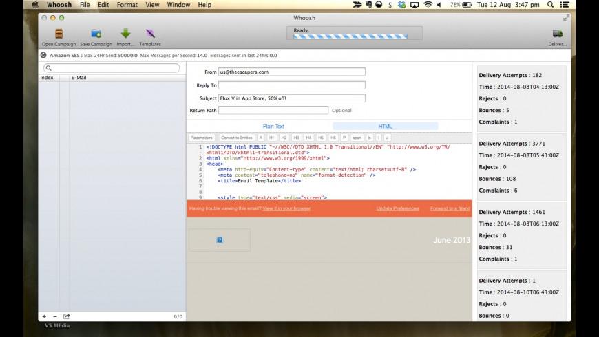 Whoosh for Mac - review, screenshots