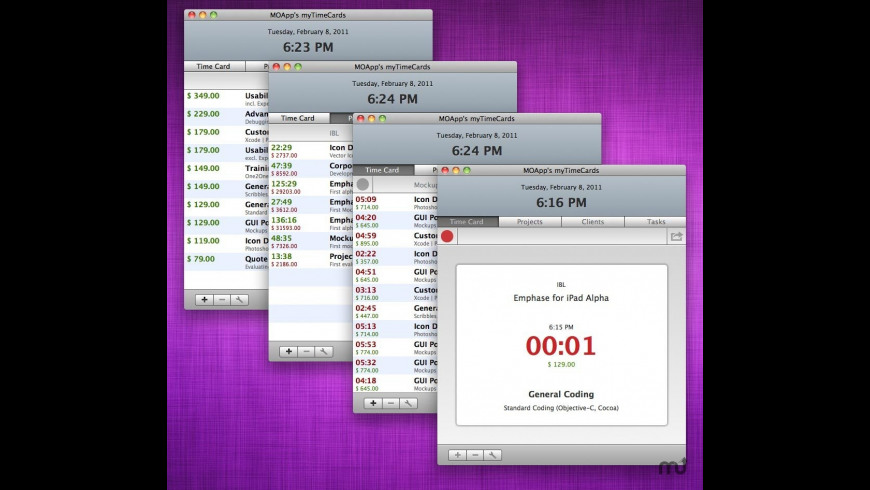 myTimeCards for Mac - review, screenshots