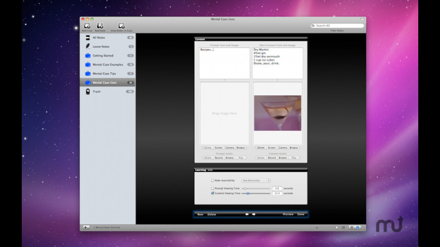 Mental Case Flashcards for Mac - review, screenshots