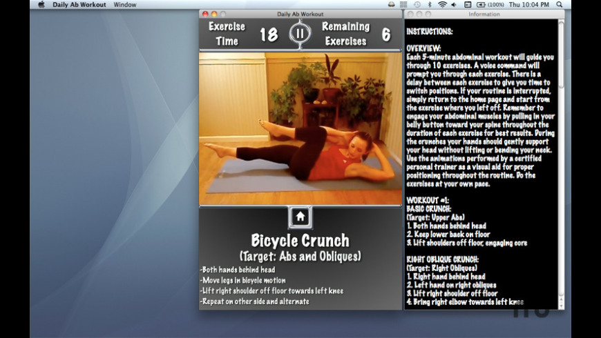 Daily Ab Workout for Mac - review, screenshots