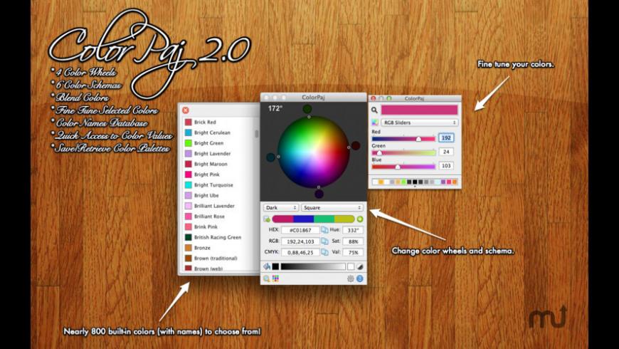 ColorPaj for Mac - review, screenshots