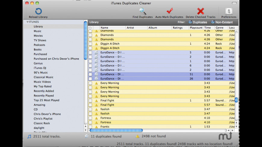 iTunes Duplicates Cleaner for Mac - review, screenshots
