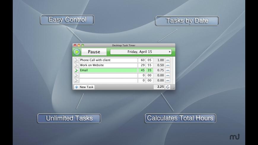 Desktop Task Timer for Mac - review, screenshots