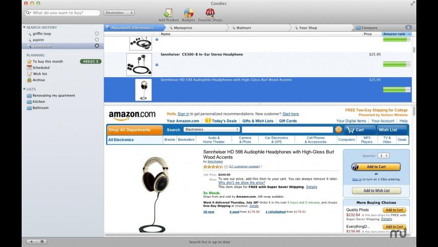 Goodies for Mac - review, screenshots