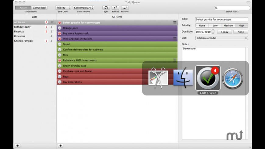 To-Do Queue for Mac - review, screenshots