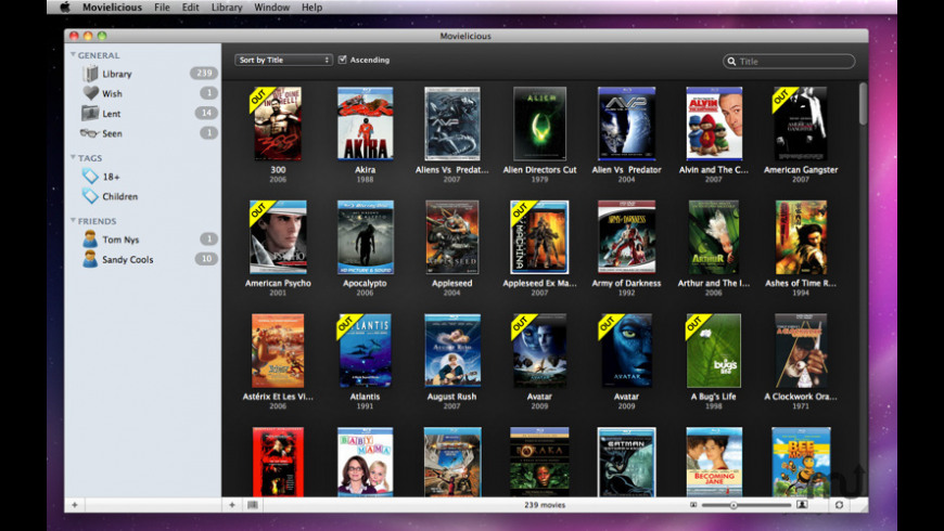 Movielicious for Mac - review, screenshots