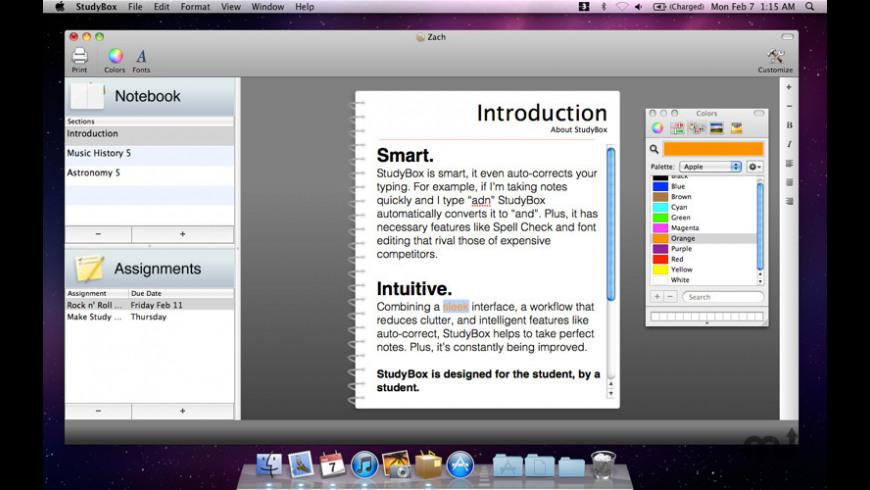 StudyBox for Mac - review, screenshots