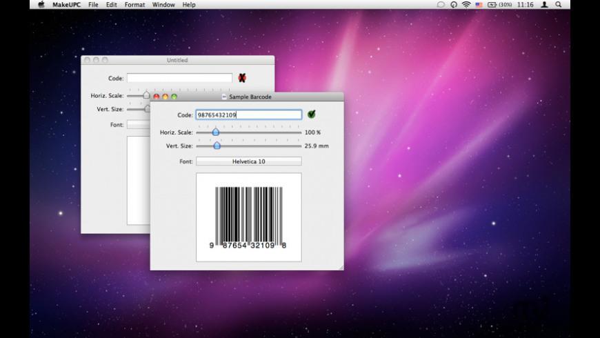 MakeUPC for Mac - review, screenshots