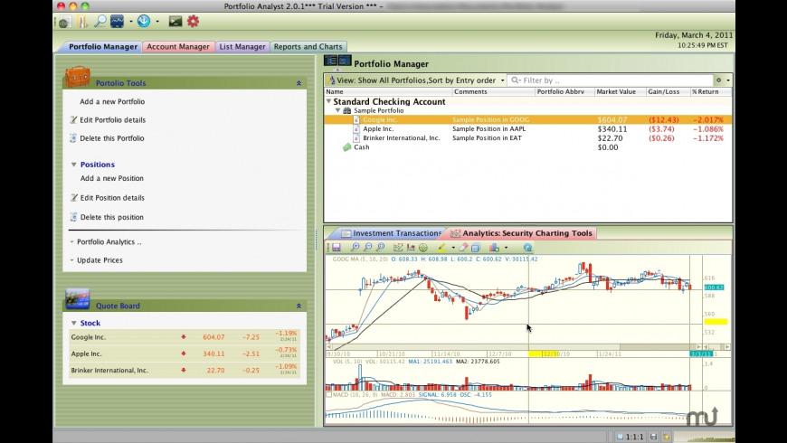 Portfolio Analyst for Mac - review, screenshots