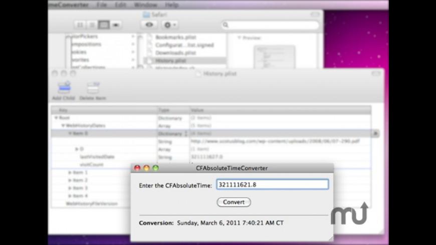 CFAbsoluteTimeConverter for Mac - review, screenshots