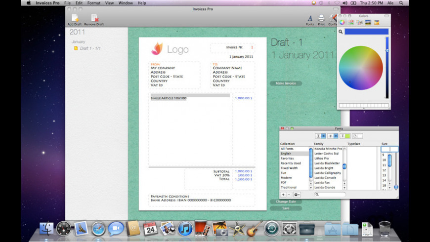 Invoices Pro for Mac - review, screenshots