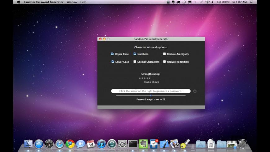 Random Password Generator for Mac - review, screenshots