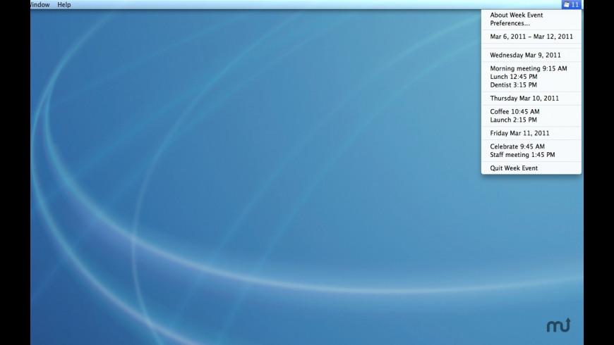 Week Event for Mac - review, screenshots