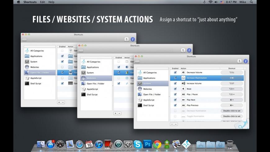 Shortcuts for Mac - review, screenshots