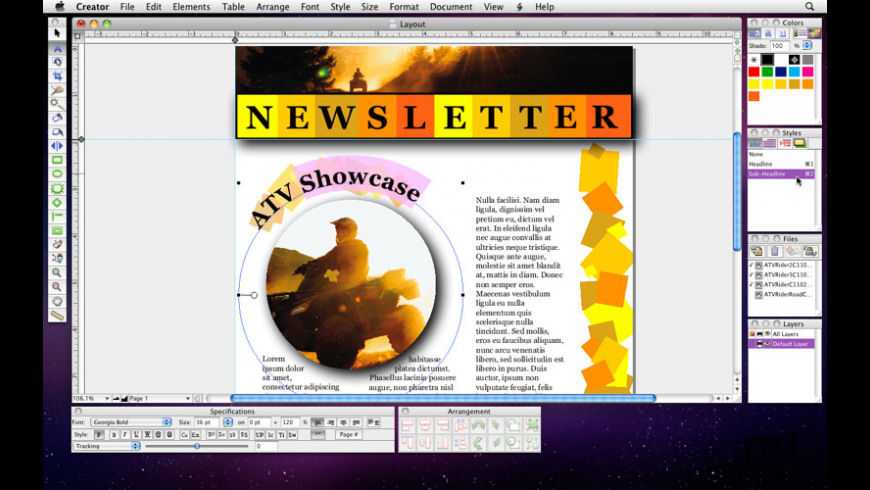 Creator Express for Mac - review, screenshots