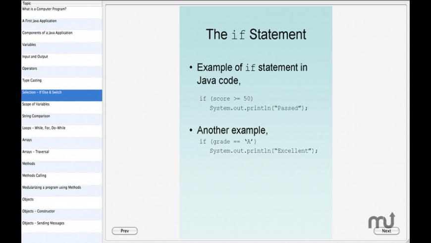 Learn Java for Mac - review, screenshots