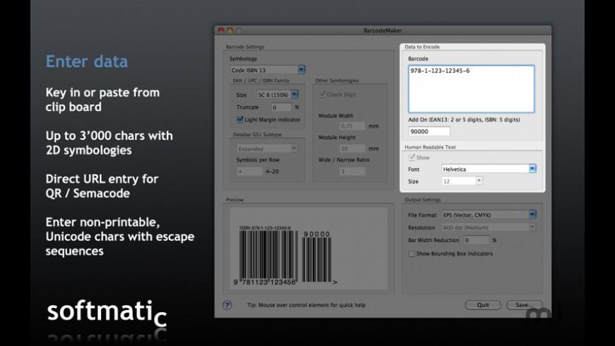 Barcode Maker for Mac - review, screenshots