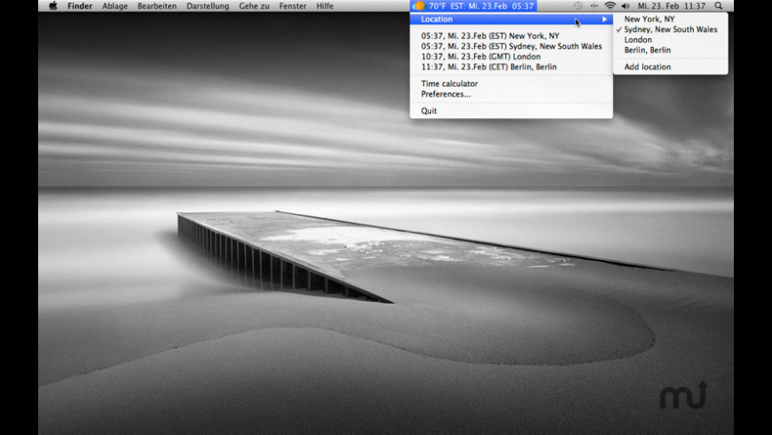 Time Zone Icon for Mac - review, screenshots