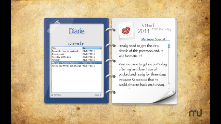 Diarie for Mac - review, screenshots