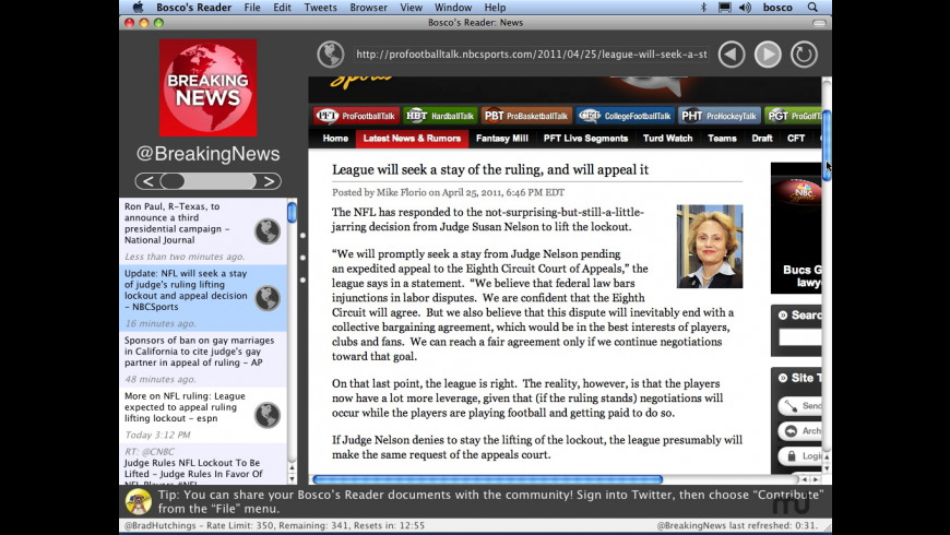 Bosco's Reader for Mac - review, screenshots
