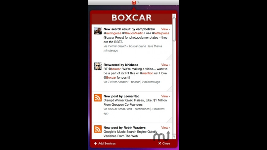 Boxcar for Mac - review, screenshots