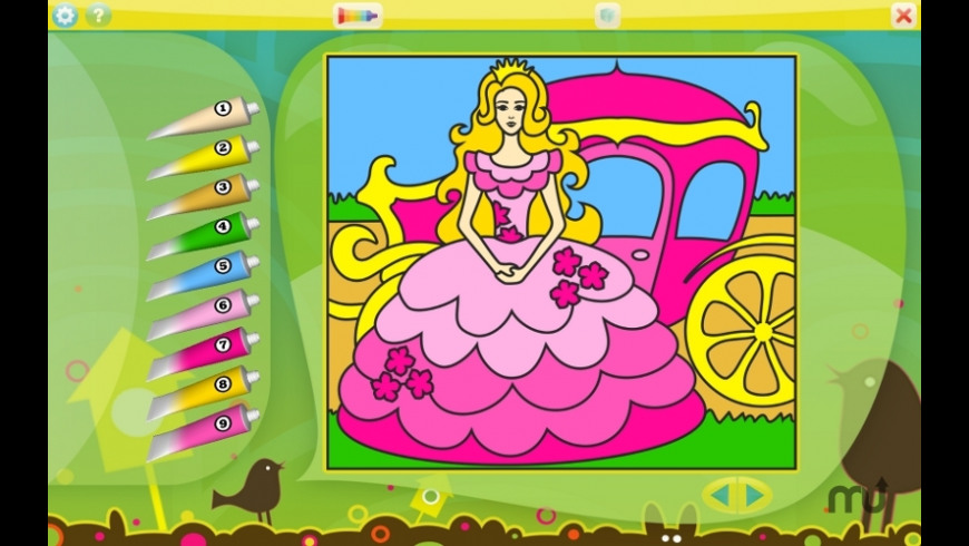 Color by Numbers - Princesses for Mac - review, screenshots