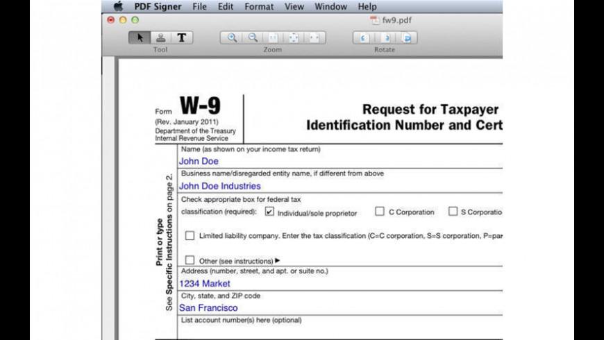 PDF Signer for Mac - review, screenshots