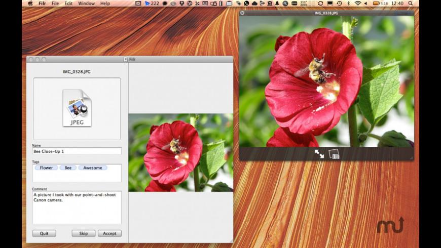 Filr for Mac - review, screenshots