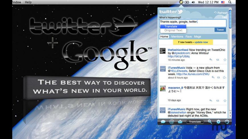 TwitterMenu for Mac - review, screenshots