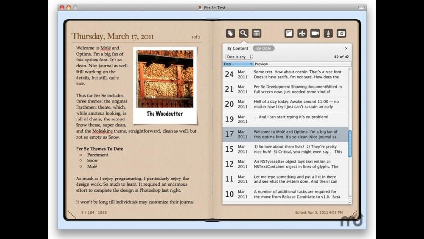 Per Se for Mac - review, screenshots