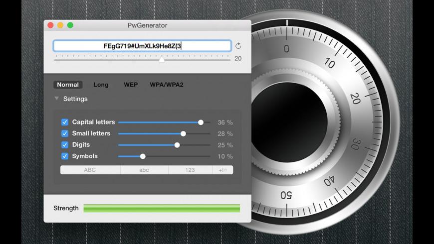 PwGenerator for Mac - review, screenshots