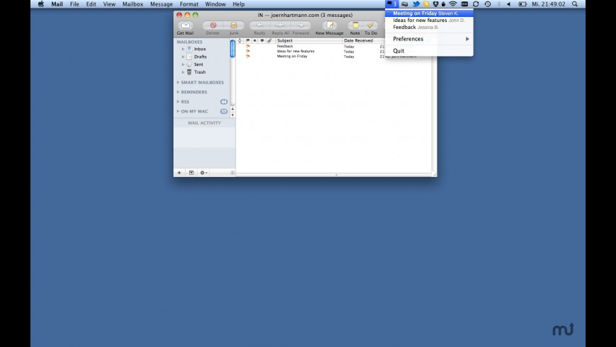 FlaggedMails for Mac - review, screenshots