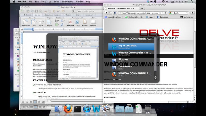 WindowCommander for Mac - review, screenshots